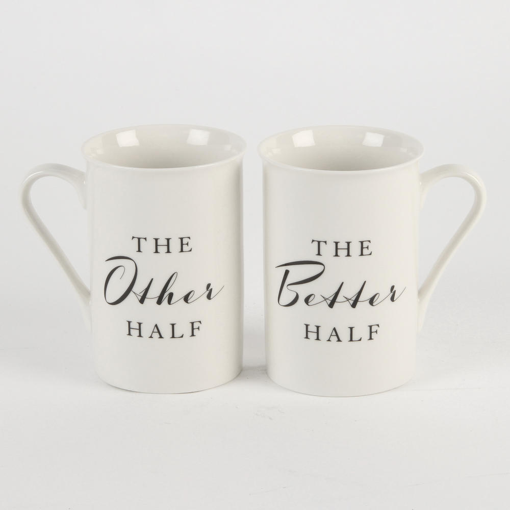 The Other Half & The Better Half Amore Mug Set In A Gift Box