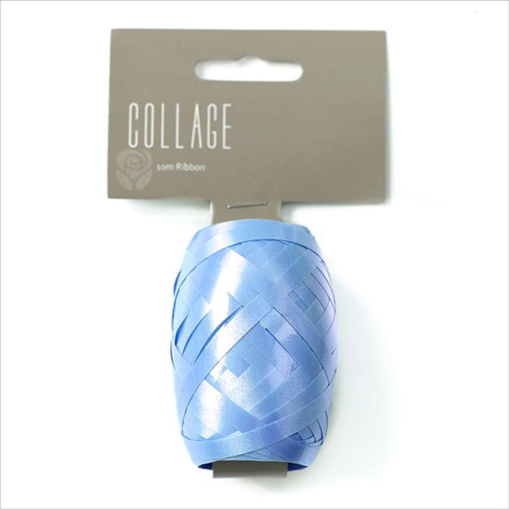 Gift Wrap Ribbon Individual 10M Roll Blue Wrapping Ribbon