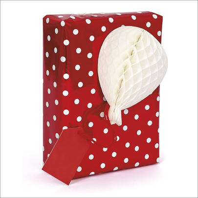 Honeycomb Gift Tag Individual White Present Topper