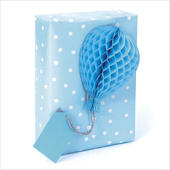 Honeycomb Gift Tag Individual Blue Present Topper