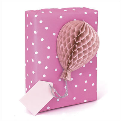 Honeycomb Gift Tag Individual Pink Present Topper