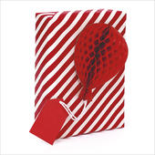 Honeycomb Gift Tag Individual Red Present Topper