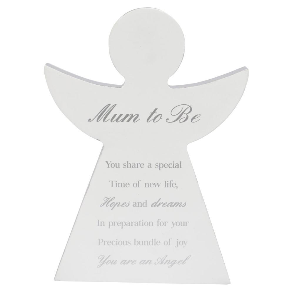 Mum To Be Guardian Angel Block Standing Wooden Plaque