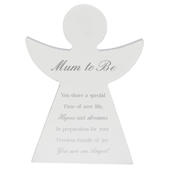 Mum To Be Guardian Angel Block Standing Wooden Plaque