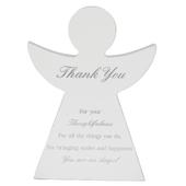 Thank You Guardian Angel Block Standing Wooden Plaque