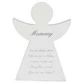 Mummy Guardian Angel Block Standing Wooden Plaque