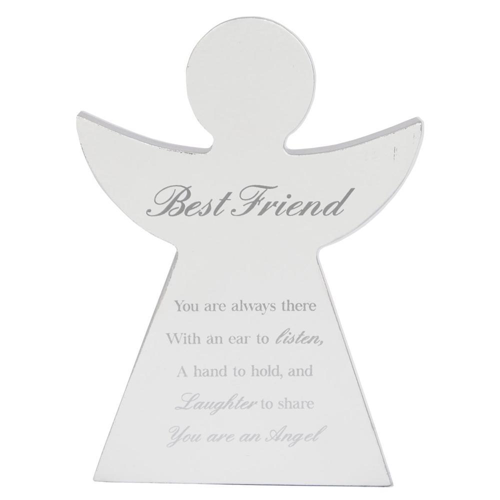 Best Friend Guardian Angel Block Standing Wooden Plaque