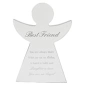 Best Friend Guardian Angel Block Standing Wooden Plaque