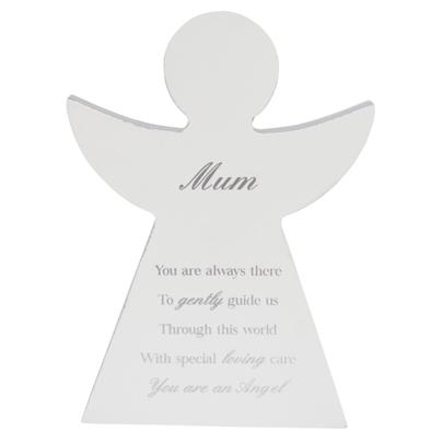 Mum Guardian Angel Block Standing Wooden Plaque