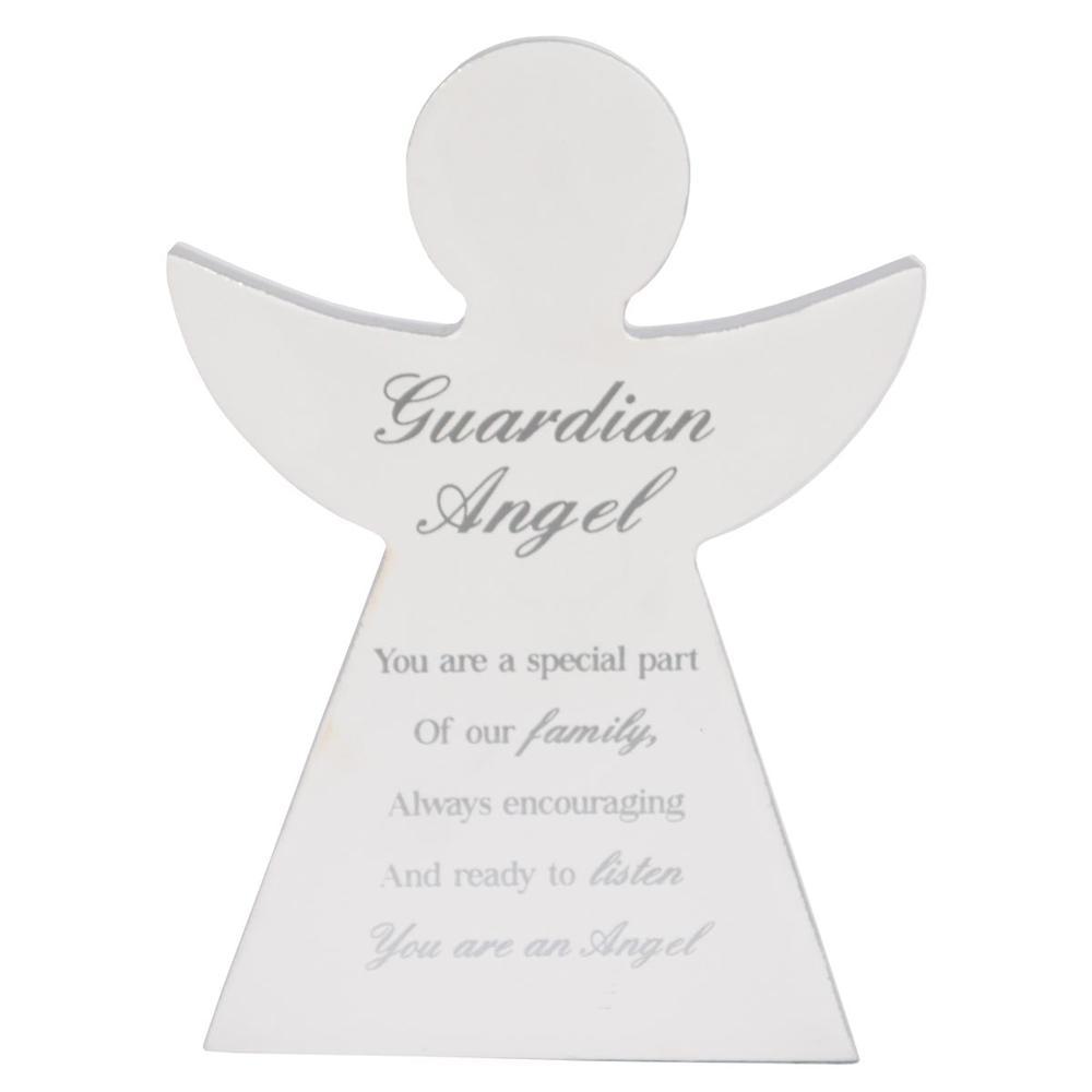 Guardian Angel Block Standing Wooden Plaque