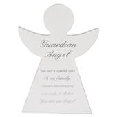 Guardian Angel Block Standing Wooden Plaque