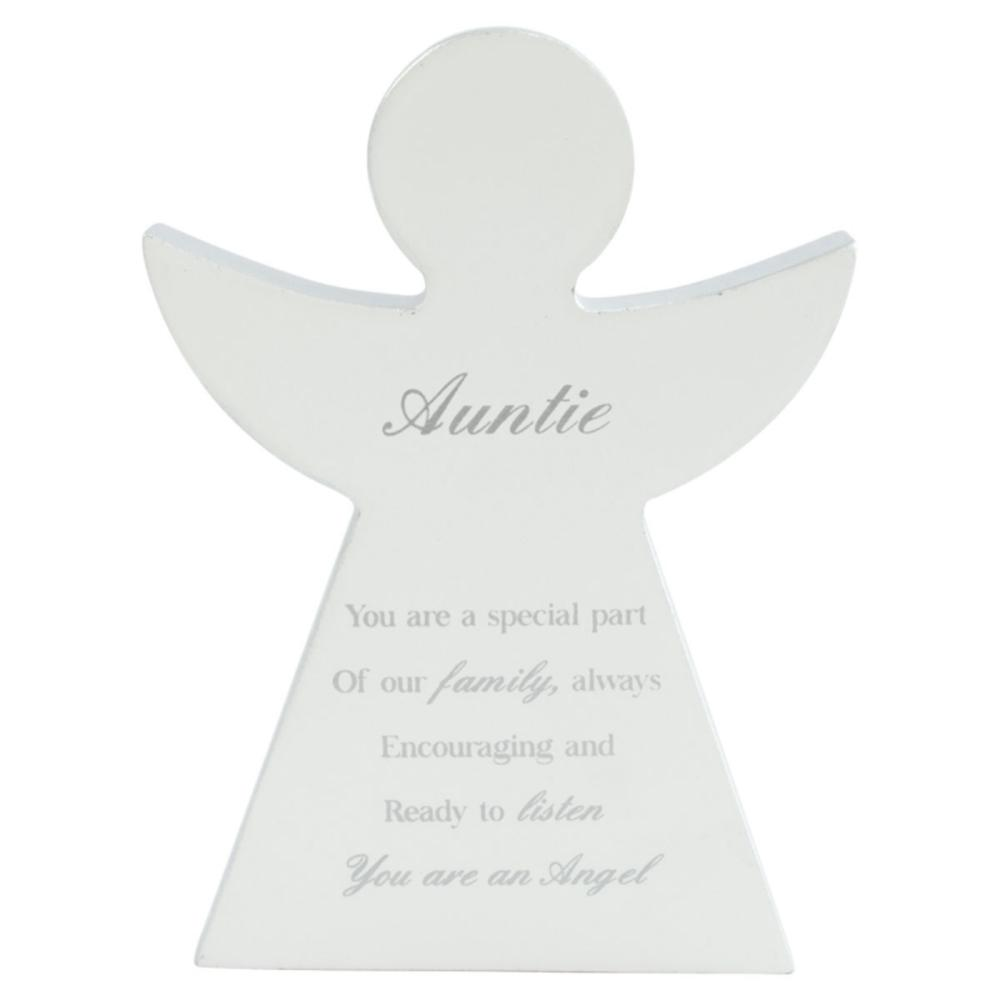 Auntie Guardian Angel Block Standing Wooden Plaque