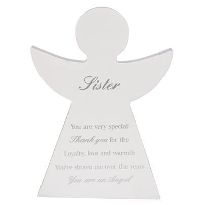 Sister Guardian Angel Block Standing Wooden Plaque