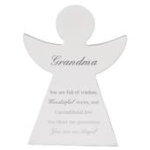 Grandma Guardian Angel Block Standing Wooden Plaque