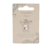 Friend Guardian Angel Silver Coloured Angel Pin With Gem Stone