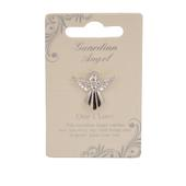 One I Love Guardian Angel Silver Coloured Angel Pin With Gem Stone