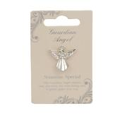 Someone Special Guardian Angel Silver Coloured Angel Pin With Gem Stone