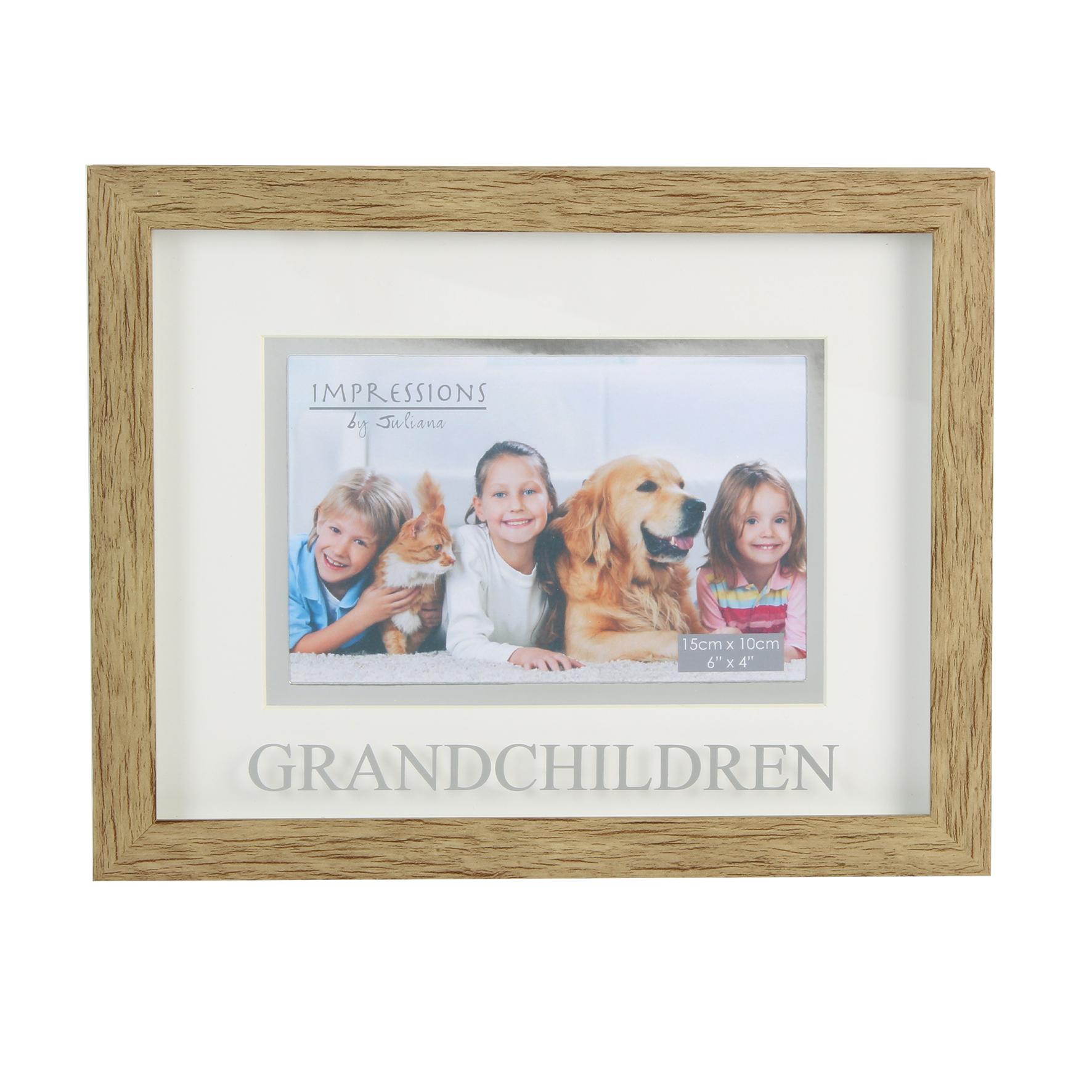 Juliana Grandchildren Natural Wood Effect Photo Frame | Gifts