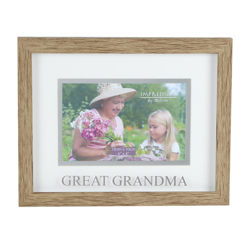 Juliana Great Grandma Natural Wood Effect Photo Frame