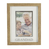 Juliana Grandad Natural Wood Effect Photo Frame