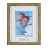 Juliana Dad Natural Wood Effect Photo Frame