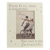 "Amore Our Love Story Photo Frame In Cream Suits 4"" x 6"" Photo"