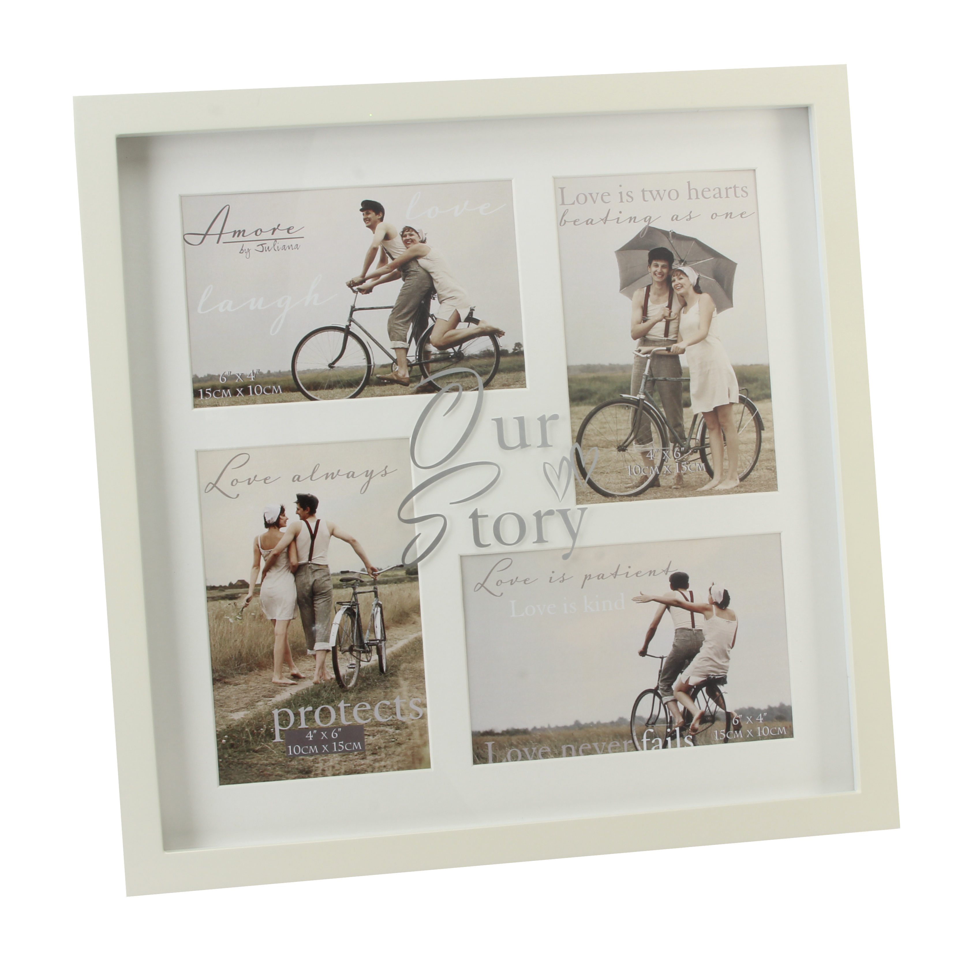 Amore Our Story Multi Aperture Collage Photo Frame In Cream ...