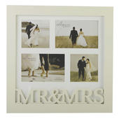 Amore Mr & Mrs Multi Aperture Collage Photo Frame In Cream