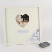 Amore Wedding Guest Thumbprint Photo Frame In Cream