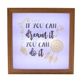 If You Dream It You Can Do It Light Up Box