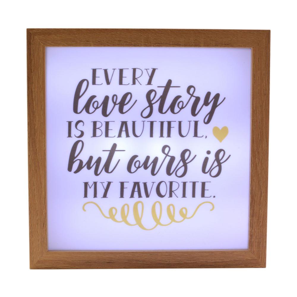 Every Love Story Is Beautiful Light Up Box