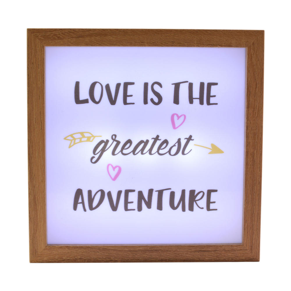 Love Is The Greatest Adventure Light Up Box