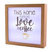 This Home Runs On Love & Wine Light Up Box