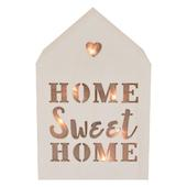 Home Sweet Home Light Up House Shaped White Wooden Block
