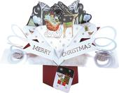 Merry Christmas Rudolph Pop-Up Greeting Card
