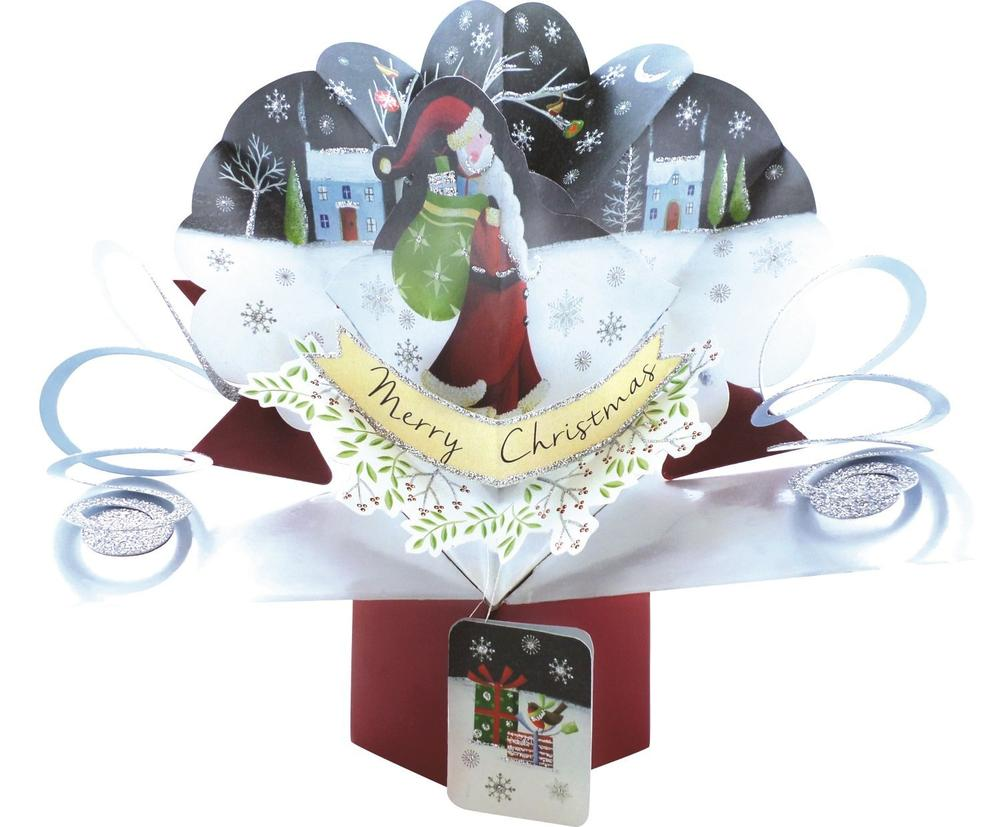 Father Christmas Pop-Up Greeting Card
