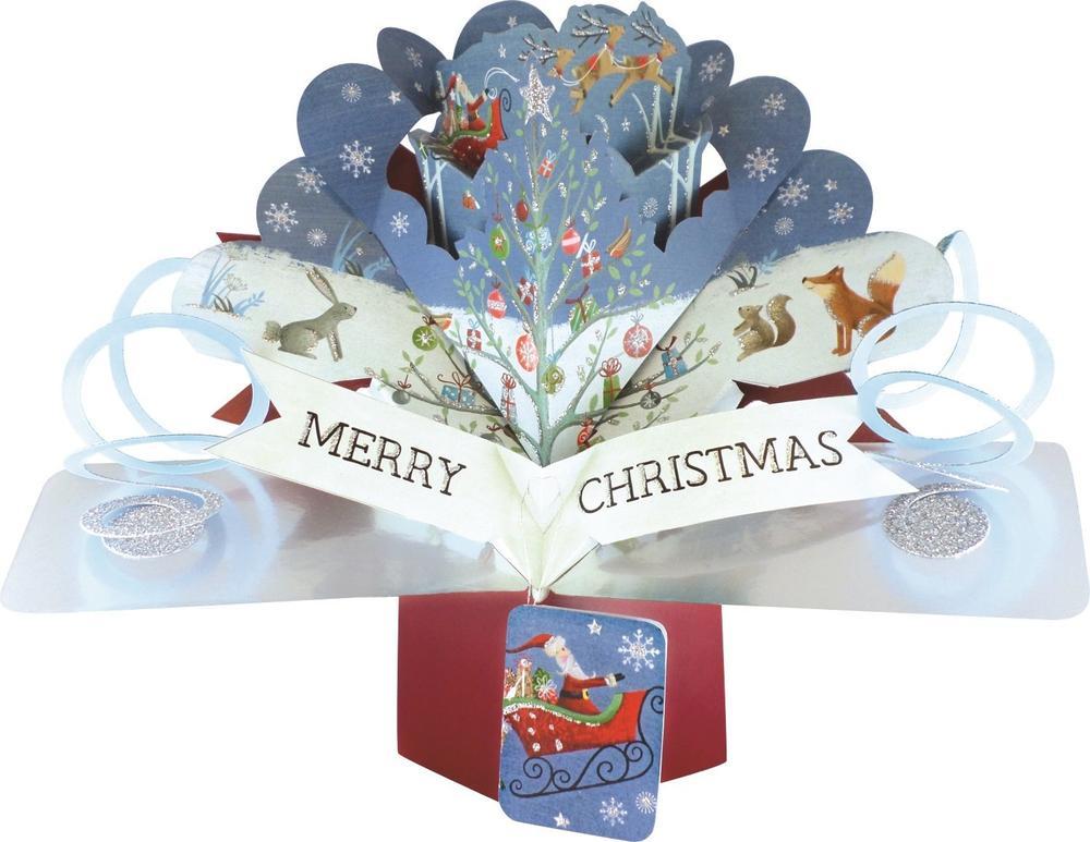 Christmas Woodland Pop-Up Greeting Card
