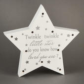 Twinkle Twinkle Little Star Light Up Star Wall Plaque