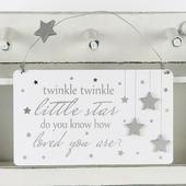Twinkle Twinkle Little Star Hanging Plaque