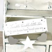 Twinkle Twinkle Little Star Hanging Plaque