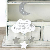 I Love You To The Moon & Back Hanging Plaque