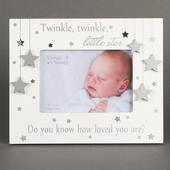 Twinkle Twinkle Little Star White Freestanding Photo Frame