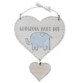 Petit Cheri Gorgeous Baby Boy Hanging Plaque