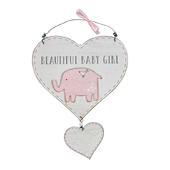Petit Cheri Beautiful Baby Girl Hanging Plaque