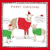 Pack of 5 Sheep Baaaah Humbug Samaritans Charity Christmas Cards
