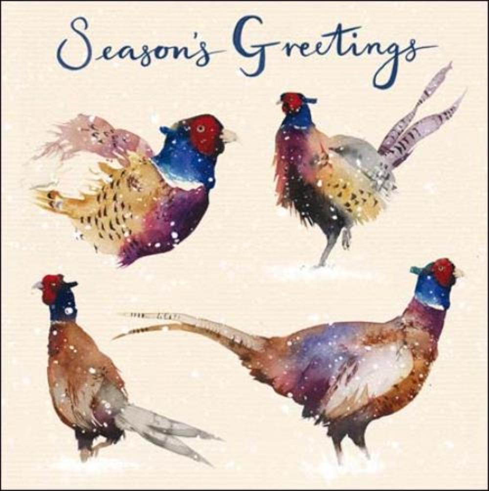 Pack of 5 Pheasants Samaritans Charity Christmas Cards