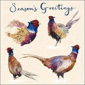 Pack of 5 Pheasants Samaritans Charity Christmas Cards
