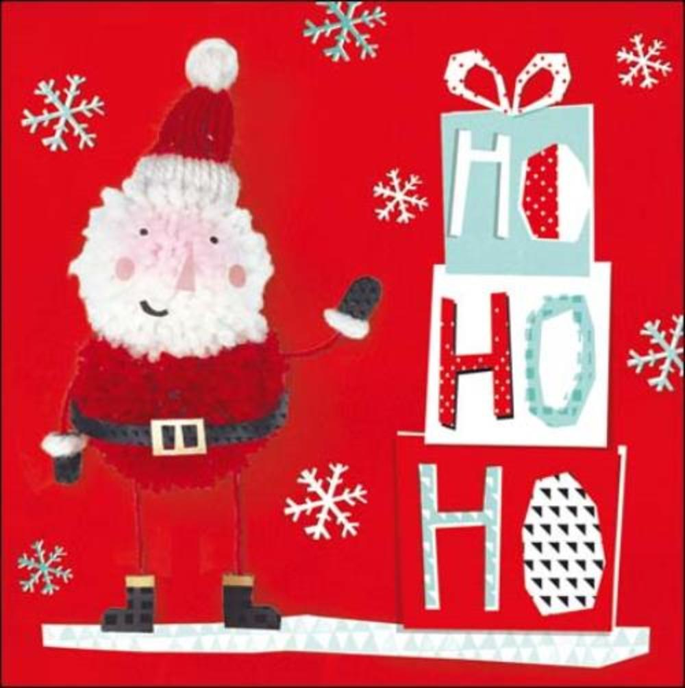 Pack of 5 Ho Ho Ho Action For Children Charity Christmas Cards