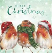 Pack of 5 Robins RNLI Lifeboats Charity Christmas Cards