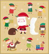 Pack of 5 Santa & Elves Samaritans Charity Christmas Cards